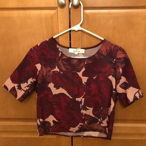 ASOS Oh My Love Floral Crop Top Size XS